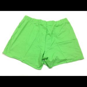 Just My Size Shorts - New JMS Just My Size Women Shorts Green 4X